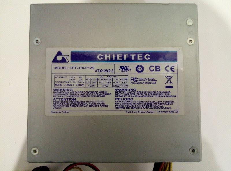 Блок питания Chieftec CFT-370-P12S 370W